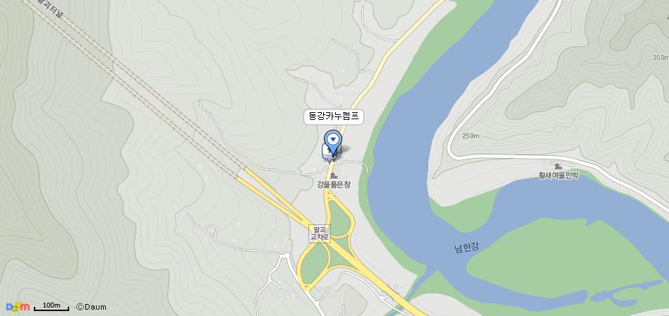 동강카누캠프 다음지도